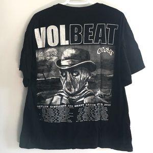 Volbeat, Anthrax 2015 Tour Shirt Mens Size XL Band